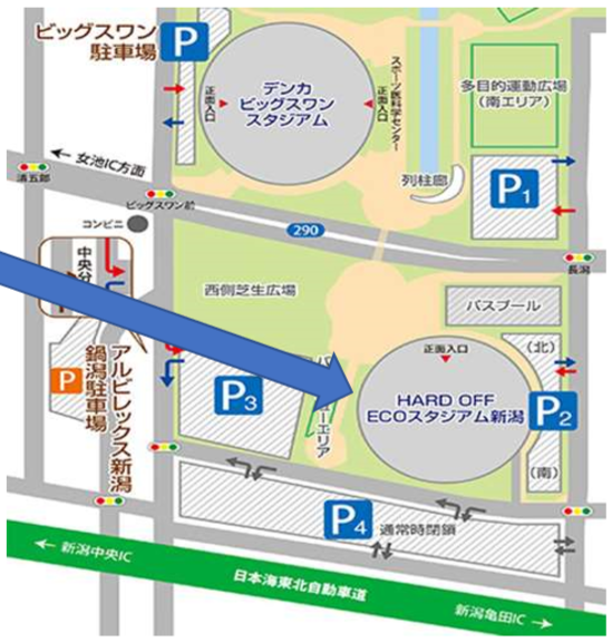 ecoスタジアム地図