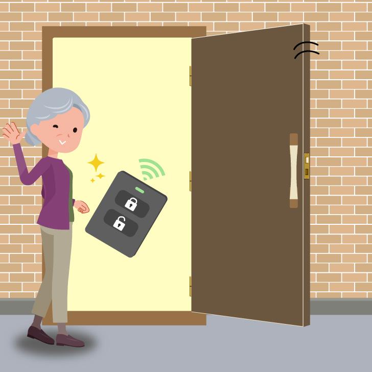 新潟センチュリー タッチレス自動木製玄関ドア